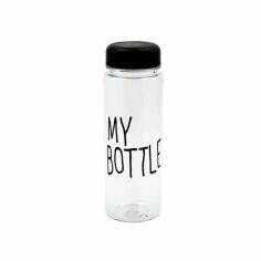 Акция на Бутылка My Bottle 500мл пластик прозрачная с дозатором + чехол от Allo UA