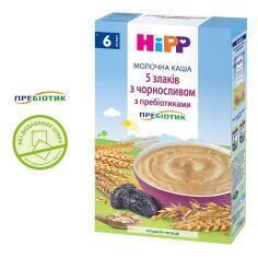 Акция на Каша молочная HiPP 5 злаков с черносливом с пребиотиками 250 г 2918 ТМ: HiPP от Antoshka