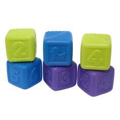 Акция на Набор кубиков BABY TEAM, 6 шт (в ассорт) 8852 ТМ: BABY TEAM от Antoshka