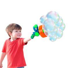 Акция на Мыльные пузыри Wanna Bubbles Бластер 2 в 1 оранжевый BB014-2 ТМ: Wanna Bubbles от Antoshka