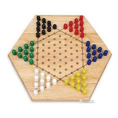 Акция на Деревянная настольная игра Viga Toys Китайские шашки (56143) от Rozetka