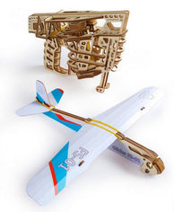 "Акция на Механический 3D пазл Ugears ""Пускатель самолетиков"" (70075) от Stylus"
