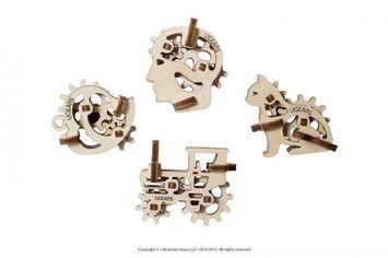 """Акция на Механический 3D пазл Ugears """"Фиджети-Трибики"""" (70029) от Stylus"""
