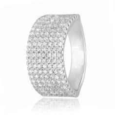Акция на Кольцо из серебра с куб. циркониями, размер 16 (282550) от Allo UA