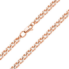 Акция на Золотая цепочка плетения двойной ромб с родированной алмазной гранью, 2,5мм 000115632 45 размера от Zlato