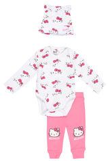 Комплект (шапка + боди + штаны) TV Mania Hello Kitty PO00001804 (B1165439) 62 см White/Pink (4060617001988) от Rozetka