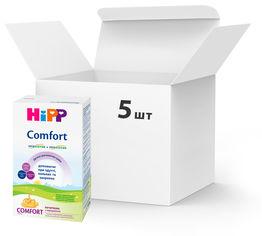 Упаковка детской сухой молочной смеси HiPP Comfort начальная с рождения 5 пачек по 300 г (9062300428787_9062300439455) от Rozetka