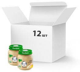 Акция на Упаковка овоще-мясного пюре Gerber Нежные овощи с кроликом с 6 месяцев 130 г х 12 шт (7613036011266) от Rozetka