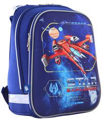 Акция на Рюкзак школьный каркасный 1 Вересня H-12 Star Explorer 1.1 кг 29х38х15 см 16.5 л (555960) от Rozetka