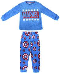 Акция на Пижама (футболка с длинным рукавом + штаны) Disney Marvel 2200006191 140 см Синяя (8427934468027) от Rozetka