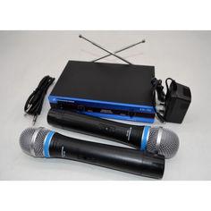 Акция на Радиосистема на 2 микрофона EW-100 PRO для караоке синяя от Allo UA