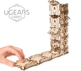 """Акция на Механический 3D пазл Ugears """"Модульний Дайс Тауэр для настольных игр"""" (70069) от Y.UA"""