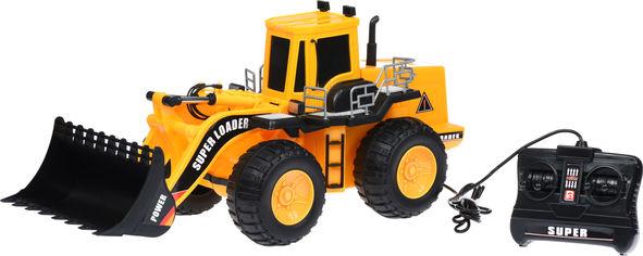 Акция на Машинка на дистанционном управлении Same Toy Super Loader Трактор погрузчик Желтый (S927Ut) от Rozetka