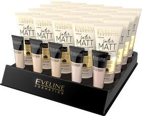 Акция на Набор матирующих тональных кремов Eveline Satin Matt 30 мл х 20 шт + 5 тестеров (5903416002093) от Rozetka