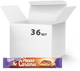 Акция на Упаковка батончиков Milka с арахисом и карамелью 37 г х 36 шт (7622210785565) от Rozetka