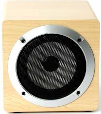Акция на Акустическая система Omega OG60W Wood Bluetooth V4.2 TWS (OG60W) Brown от Територія твоєї техніки
