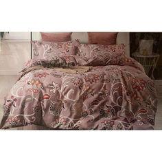 Акция на Комплект постельного белья Koloco Bayun 475 евро розовый (ts-01656) от Allo UA