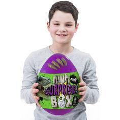 Акция на Детский игровой набор для творчества Яйцо Динозавра DINO SURPRISE BOX 30 см 15 сюрпризов Фиолетово-зелёный (DWB0112U) от Allo UA