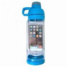 Акция на Спортивная бутылка CUP Bottle 5s с отсеком для мобильного телефона Голубая от Allo UA