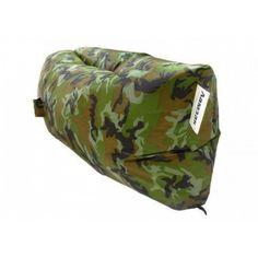 Акция на Надувной гамак матрас-ламзак AIR sofa ARMY Камуфляж (3096) от Allo UA