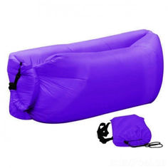 Акция на Надувной гамак матрас-ламзак AIR sofa 190 Фиолетовый (3094) от Allo UA