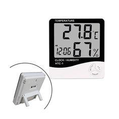 """Акция на Термометр гигрометр цифровой -10~50C ЖК 3.8"""" термогигрометр HTC-1 от Allo UA"""