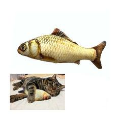 Акция на Мягкая игрушка рыба Карп 20см для кошек кота с кошачьей мятой от Allo UA