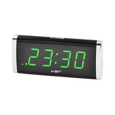 Акция на Настольные часы VST 730 с зеленой подсветкой от Allo UA