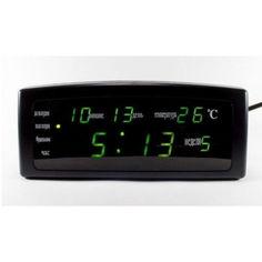 Акция на Часы настольные CX 868 с зеленой подсветкой от Allo UA