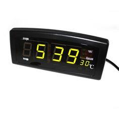 Акция на Часы настольные Caixing CX-818 с зеленой подсветкой, черные от Allo UA