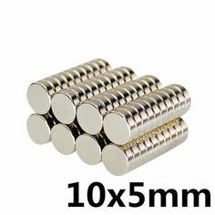 Акция на Магниты неодимовые сильные 10x5мм N35 10шт от Allo UA