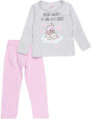 Пижама (футболка с длинными рукавами + штаны) TV Mania PO00001470 (B1168896) 116 см Gray/Pink (4060617003968) от Rozetka