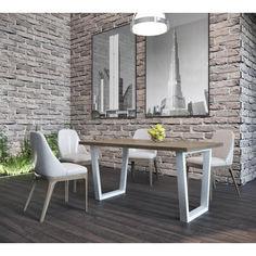 Акция на Стол обеденный Бинго Металл-дизайн белый бархат + Вествуд 750x1600x800 от Allo UA