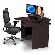 Акция на Стол геймерский ZEUS IGROK-2 темный орех от Allo UA