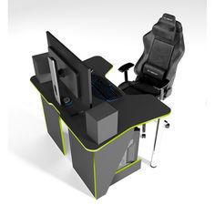 Акция на Стол геймерский игровой  ZEUS IGROK-3 черный + зеленый от Allo UA