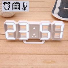 Акция на Электронные LED часы с будильником термометром от USB Caixing CX-2218 белая подсветка от Allo UA