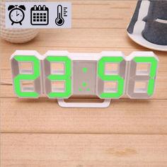 Акция на Электронные LED часы с будильником термометром от USB Caixing CX-2218 зеленая подсветка от Allo UA