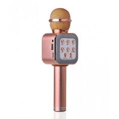 Акция на Детский беспроводной Bluetooth микрофон-караоке Wster 1818 Розовый от Allo UA