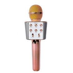 Акция на Микрофон караоке беспроводной Wster WS-1688 Pink от Allo UA