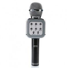 Акция на Детский беспроводной Bluetooth микрофон-караоке Wster 1818 Черный от Allo UA
