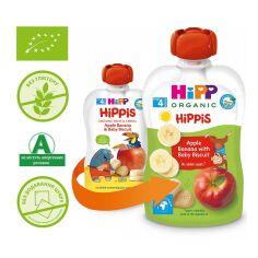 Акция на Пюре органическое HiPP Яблоко Банан с печеньем 100 г 8508 ТМ: HiPP от Antoshka
