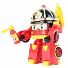 Акция на Пожарная машина-робот Рой с подсветкой Robocar Poli 83093 от Podushka