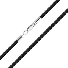 Акция на Шелковый шнурок с серебряной застежкой 000052681 45 размера от Zlato
