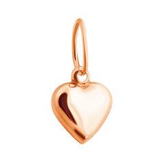Акция на Кулон-сердце из красного золота в стиле минимализм 000001444 от Zlato