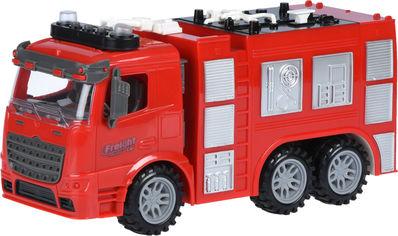 Акция на Машинка Same Toy Truck инерционная Пожарная машина со светом и звуком (98-618AUt) от Rozetka