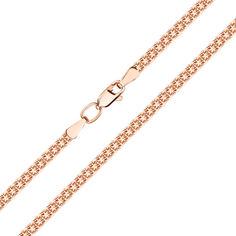 Акция на Браслет из красного золота в плетении двойной якорь 000141612 17 размера от Zlato