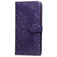 Акция на Кожаный чехол (книжка) Art Case с визитницей для Xiaomi Mi A3 (CC9e) Фиолетовый от Allo UA