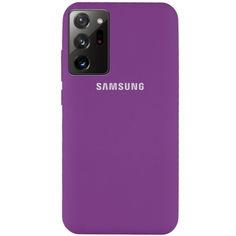 Акция на Чехол Silicone Cover Full Protective (AA) для Samsung Galaxy Note 20 Ultra Фиолетовый / Grape от Allo UA