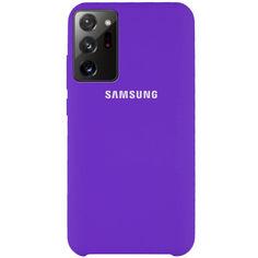 Акция на Чехол Silicone Cover (AAA) для Samsung Galaxy Note 20 Ultra Фиолетовый / Violet от Allo UA