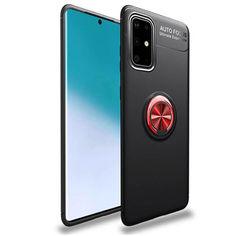 Акция на TPU чехол Deen ColorRing под магнитный держатель (opp) для Samsung Galaxy A71 Черный / Красный от Allo UA